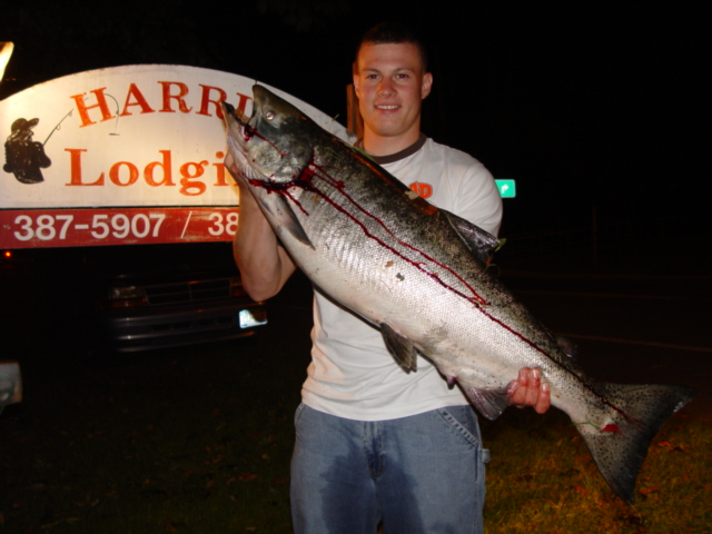 45lb Salmon caught in the Salmon River, Pulaski,NY Oct 1, 2005